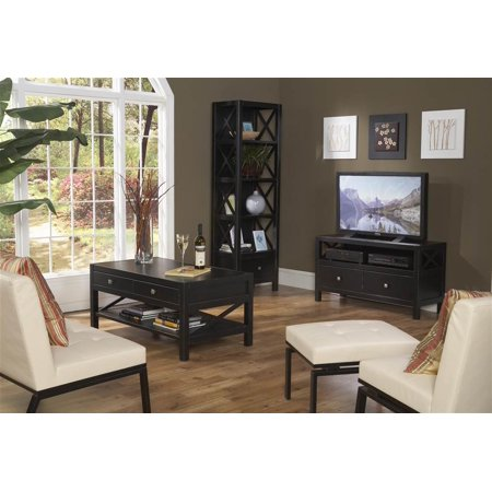 Modern Living Room Set With Tv Console Bookcase Coffee Table