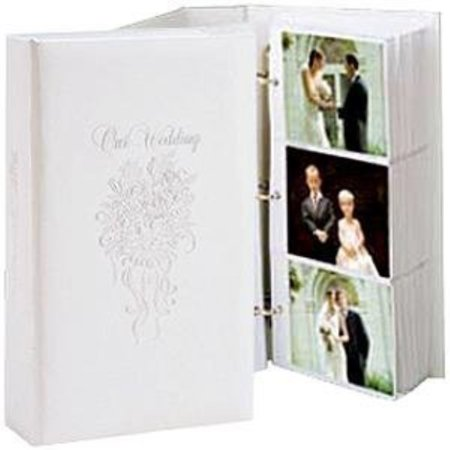 Our Wedding 3 Ring Pocket Embossed White Proof Book For Up To 300 4x6 Photos 4x6