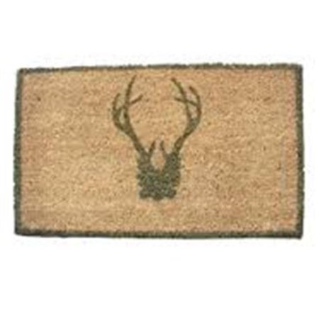 Geo Crafts G379 30 Antler Sage Sml 8 X 30 In  Sk Antler Creel Sage Doormat   Small