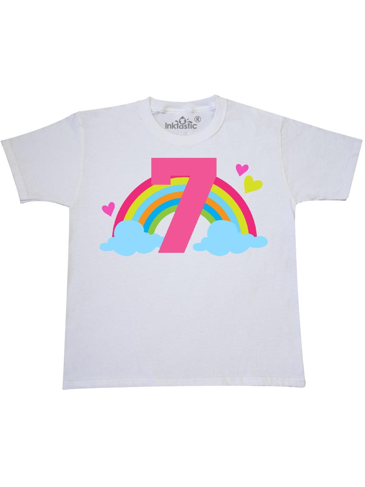 7th Birthday Rainbow Youth T-Shirt
