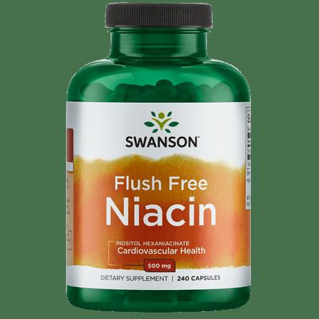 - Swanson Flush Free Niacin 500 mg 240 Caps