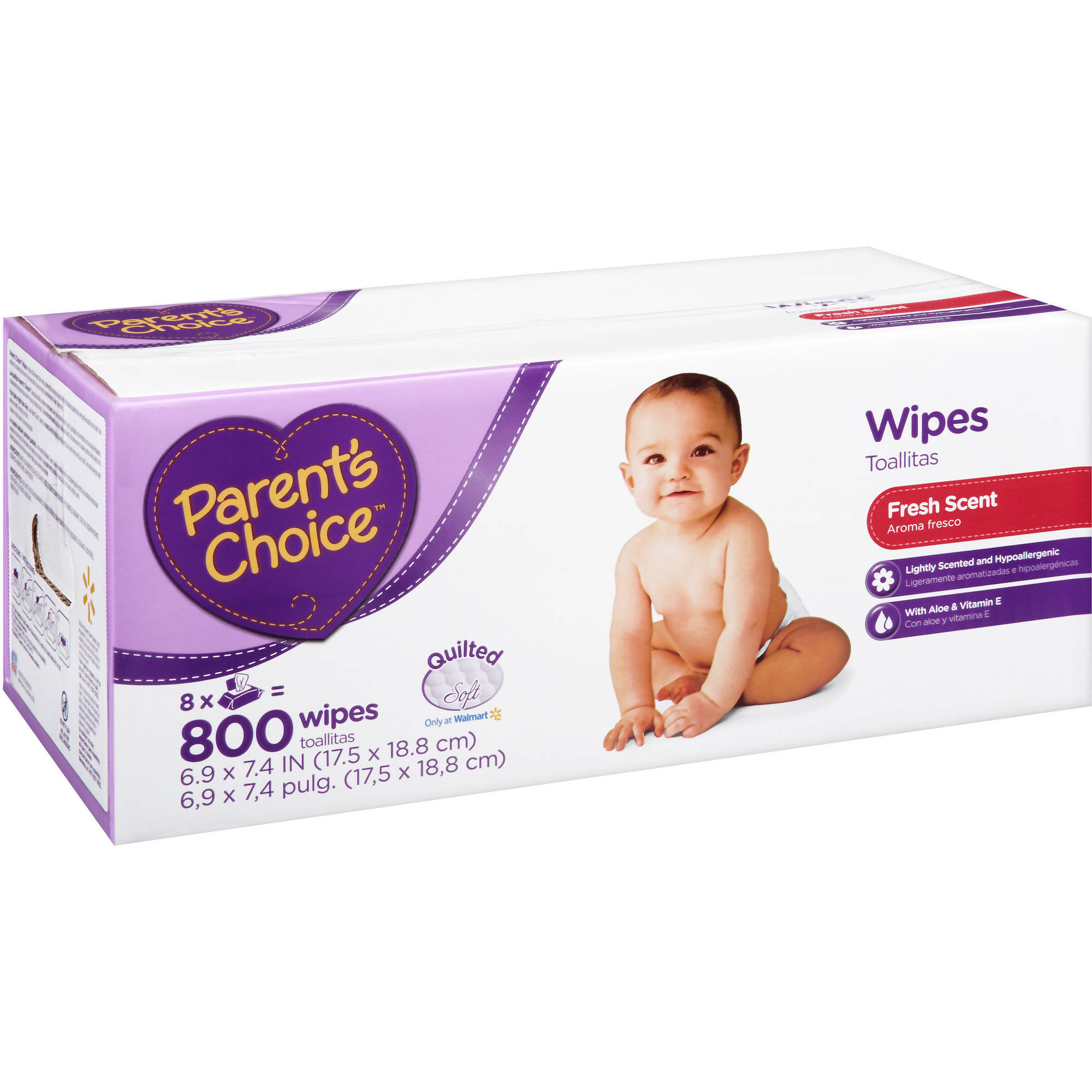 Parent's Choice Scented Baby Wipes, 800 sheets