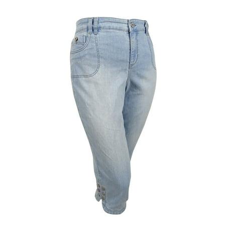d621e228149 Style   Co. Women s Plus Size Tummy-Control Capri Jeans - Walmart.com