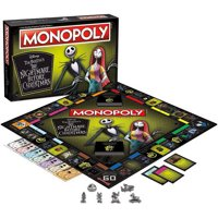 Monopoly Disney Nightmare Before Christmas Board Game | Collectible Monopoly Tim Burton Nightmare Before Christmas Movie | Collectible Monopoly Tokens