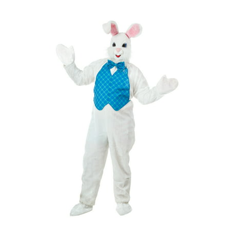 Mascot Happy Easter Bunny - White Whale Costume