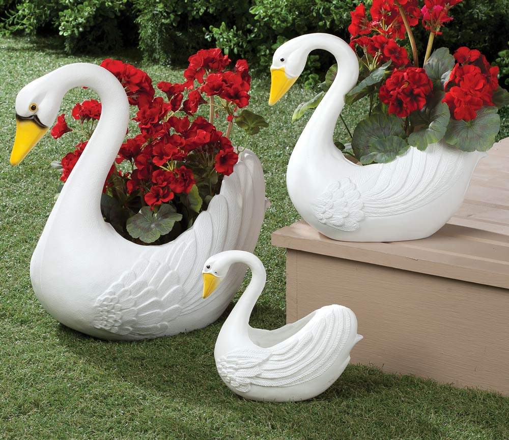 Swan Planters Set of 3 by Miles Kimball