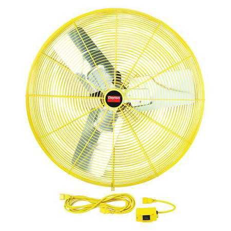DAYTON Safety Yellow AirCirc,30 In,9375cfm,115V 1VCH5