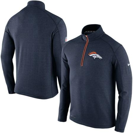 Denver Broncos Nike Game Day Half-Zip Knit Performance Tri-Blend Jacket - Navy - 3XL (Nike Knit Jacket)