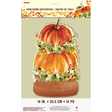 Watercolor Pumpkins Fall Centerpiece Decoration, 14 in, 1ct - Thanksgiving Centerpieces Pinterest