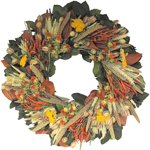 Dried Flowers and Wreaths LLC Indian Fall Wreath