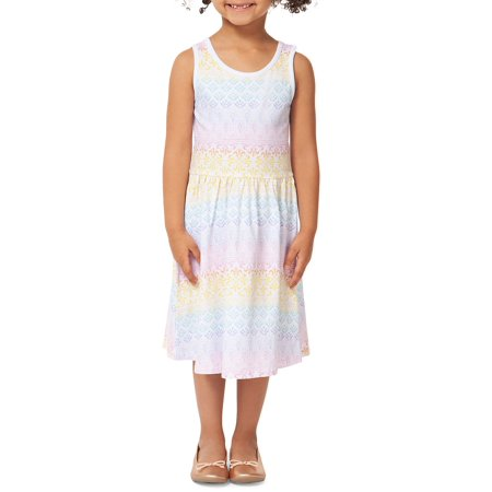 Little Girl's Printed Dress (Three Little Angels All Dressed In White)