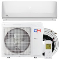 Cooper & Hunter 9000 BTU 115V Wifi Ready Ductless Mini Split Air Conditioner Heat Pump with 16ft Installation Kit