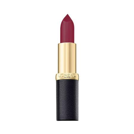 Moist Matte - L'Oreal Paris Color Riche Moist Matte Lipstick, 235 Plum Mannequin,3.7g