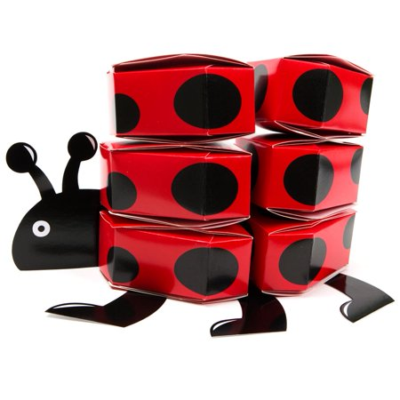 Ladybug Favor Box Centerpiece - Ladybug Centerpieces