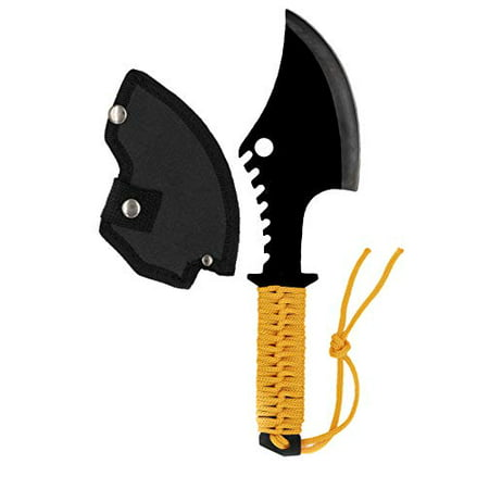 Acme Approved Throwing/Survival Camping Axe with Orange Paracord Handle - 12 Inches Overall ()