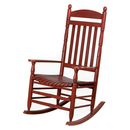 Awe Inspiring Hinkle Riverside Round Post Slat Back Wood Patio Rocking Chair Theyellowbook Wood Chair Design Ideas Theyellowbookinfo