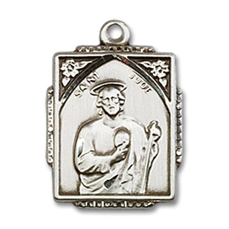 St  Jude Medal Pendant In Sterling Silver By Bliss Mfg  St  Jude Thaddeus Is Known As The Patron Saint Of Desperate Situations