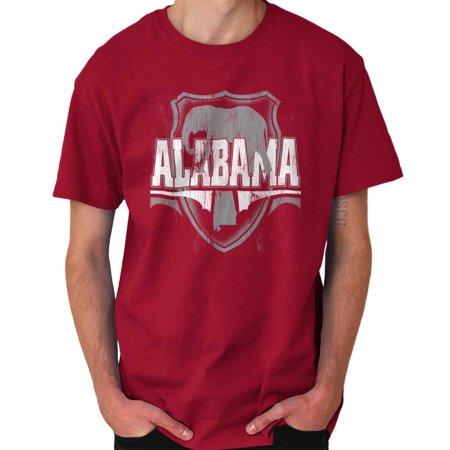 Brisco Brands Alabama Country State Pride AL Short Sleeve Adult T-Shirt (Alabama State Map T-shirt)