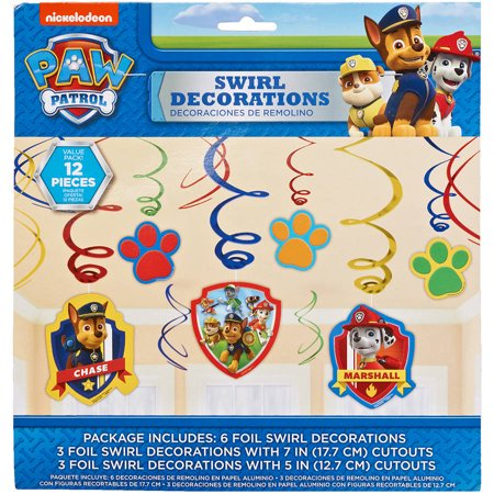 PAW Patrol Hanging Party Decorations, Party Supplies