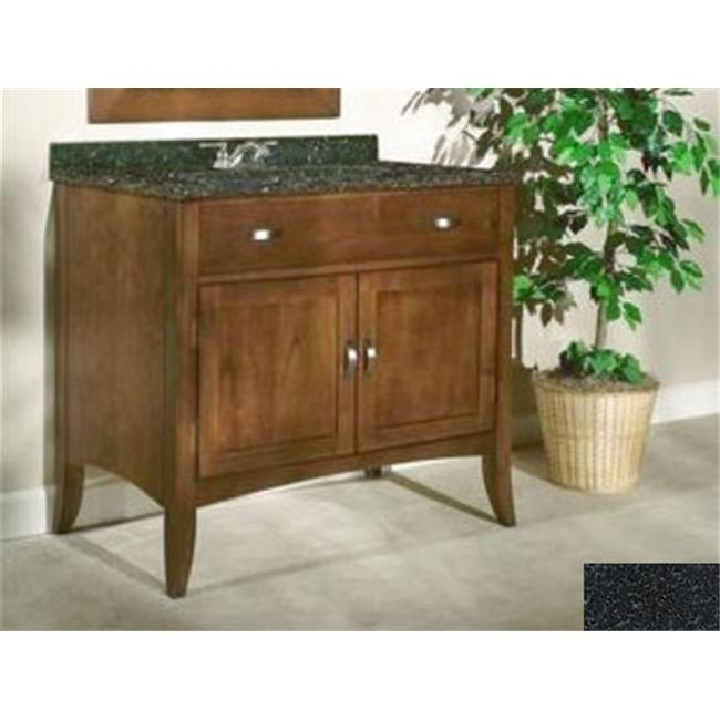 Kaco International 385-3000-AB Metro 30 inch Vanity with a Brown Cherry Krylon Finish and Black Granite Top