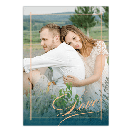Personalized Wedding Invitation - Elegant Lines - 5 x 7 Flat ()