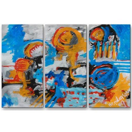 All My Walls 'Woman with Too Much Time' by Mike Henderson 3 Piece Painting Print Plaque Set