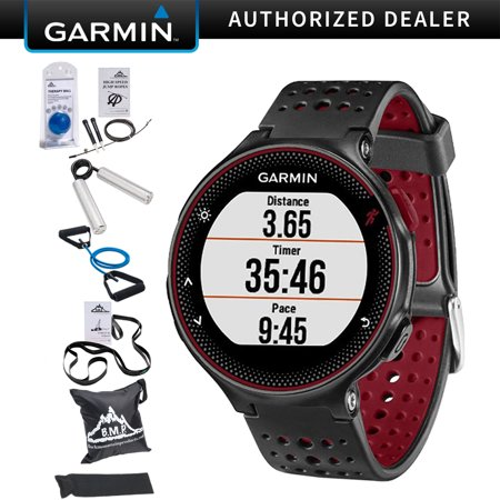 Garmin Forerunner 235 GPS Sport Watch with Wrist-Based Heart Rate Monitor - Marsala (010-03717-70) with 7-Pieces Fitness Kit