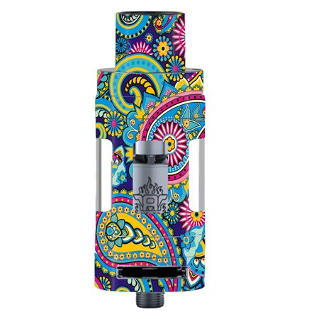 - Skins Decals For Smok Tfv8 Tank Vape Mod / Colorful Paisley Mix