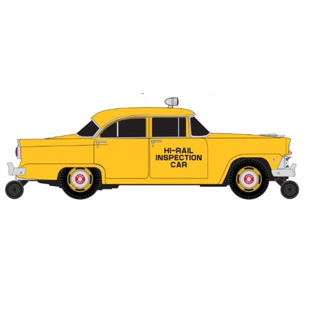 Classic Metal WorksTM HO 1955 Ford Mainline 4-Door Sedan Rail Inspection Car
