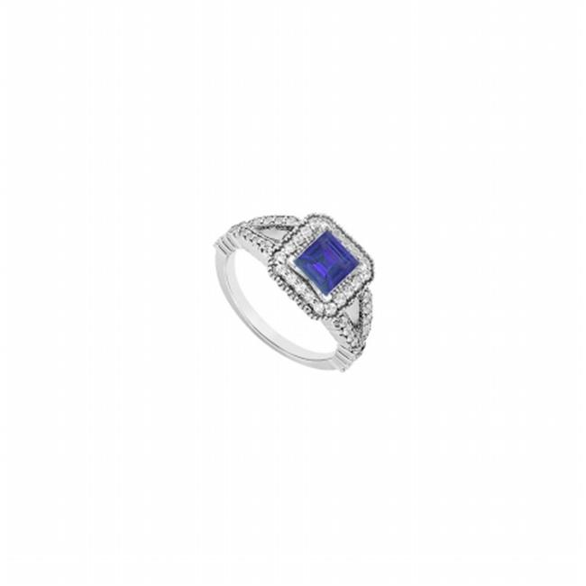 FineJewelryVault UBUJS3270AAG4CZS Engagement Ring Blue Sa...