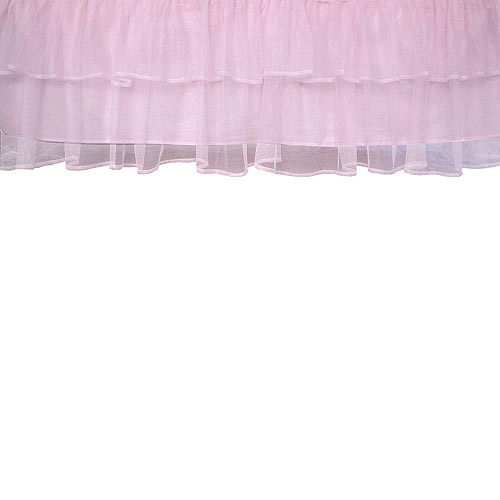 Triple-Layer Tulle Crib Skirt, Pink