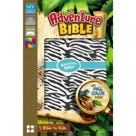 NIV Adventure Bible, Leathersoft, Zebra Print, Full Color Interior ()