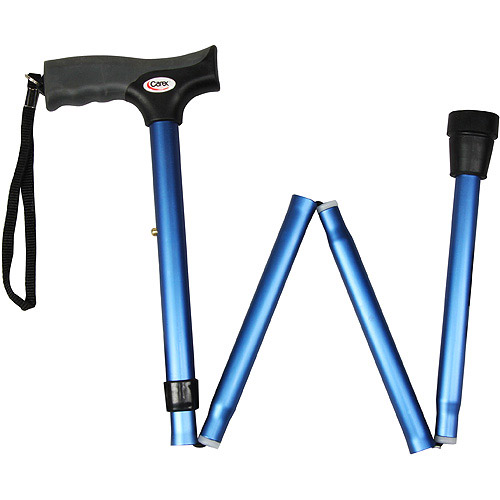 Carex Soft Grip Folding Cane - Blue A53800
