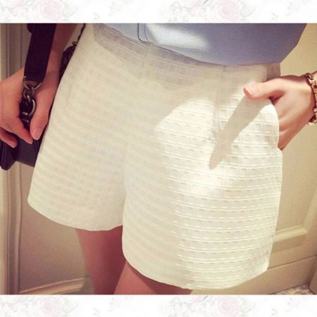 Summer Hot Pants Women Girls Casual Shorts Beach High Waist Short Wide Leg Pants