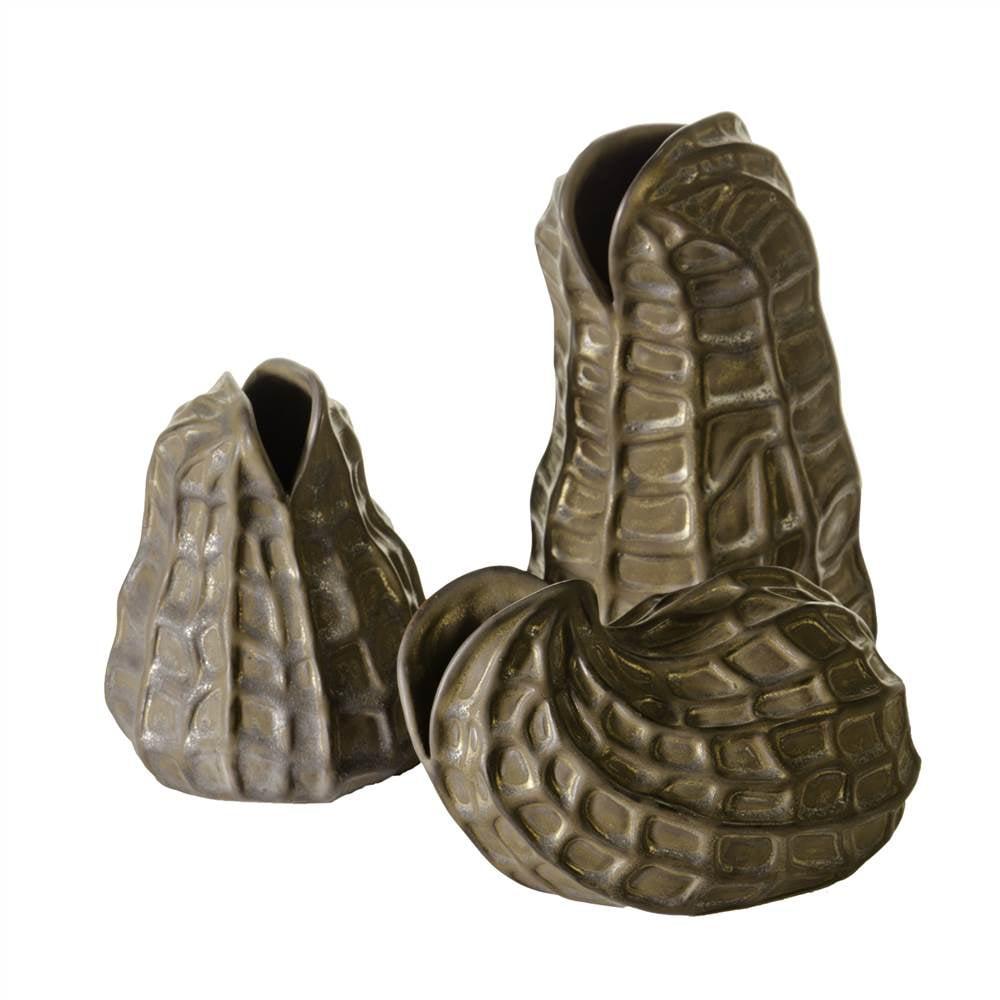 Kacang Delightful Set of Peanut Shaped Vases - Set of 3