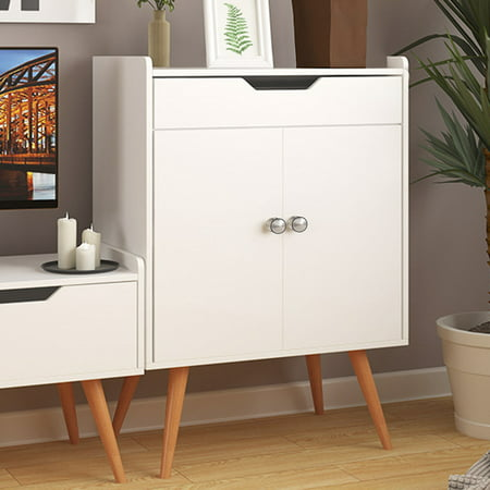 Costway Two Door Buffet Sideboard Storage Cabinet Console Cabinet Table Sever Display