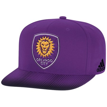 Orlando City SC Adidas MLS Sublimated Dot Embroidered Snap Back Hat Adidas Embroidered Gloves