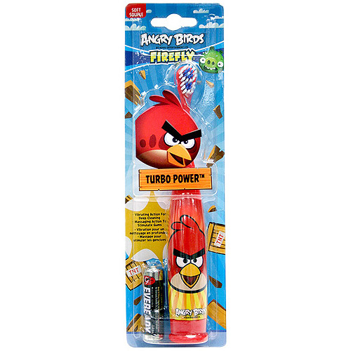 Firefly Angry Birds Turbo Power Soft Toothbrush, Colors May Vary