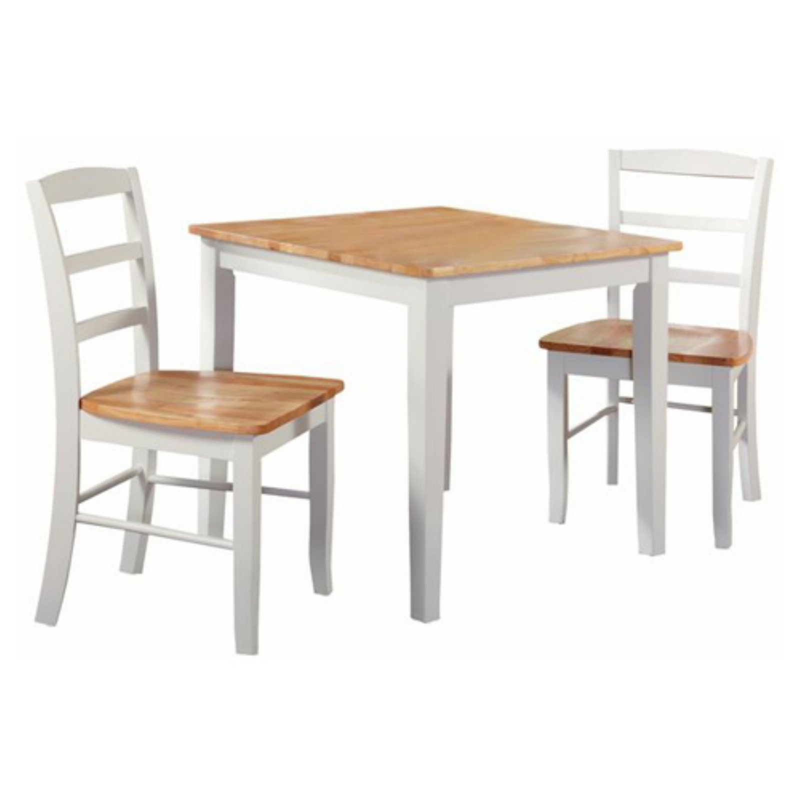 "30"" x 30"" Dining Table with 2 Ladderback Chairs"