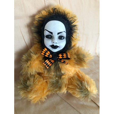 OOAK Beauty Face Teddy Bear Creepy Horror Doll Art Christie - Creepy Bear