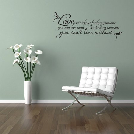 Love Is Finding Someone Vinyl Wall Quote Decal Love Life Family Couple Gift - Qute Couple