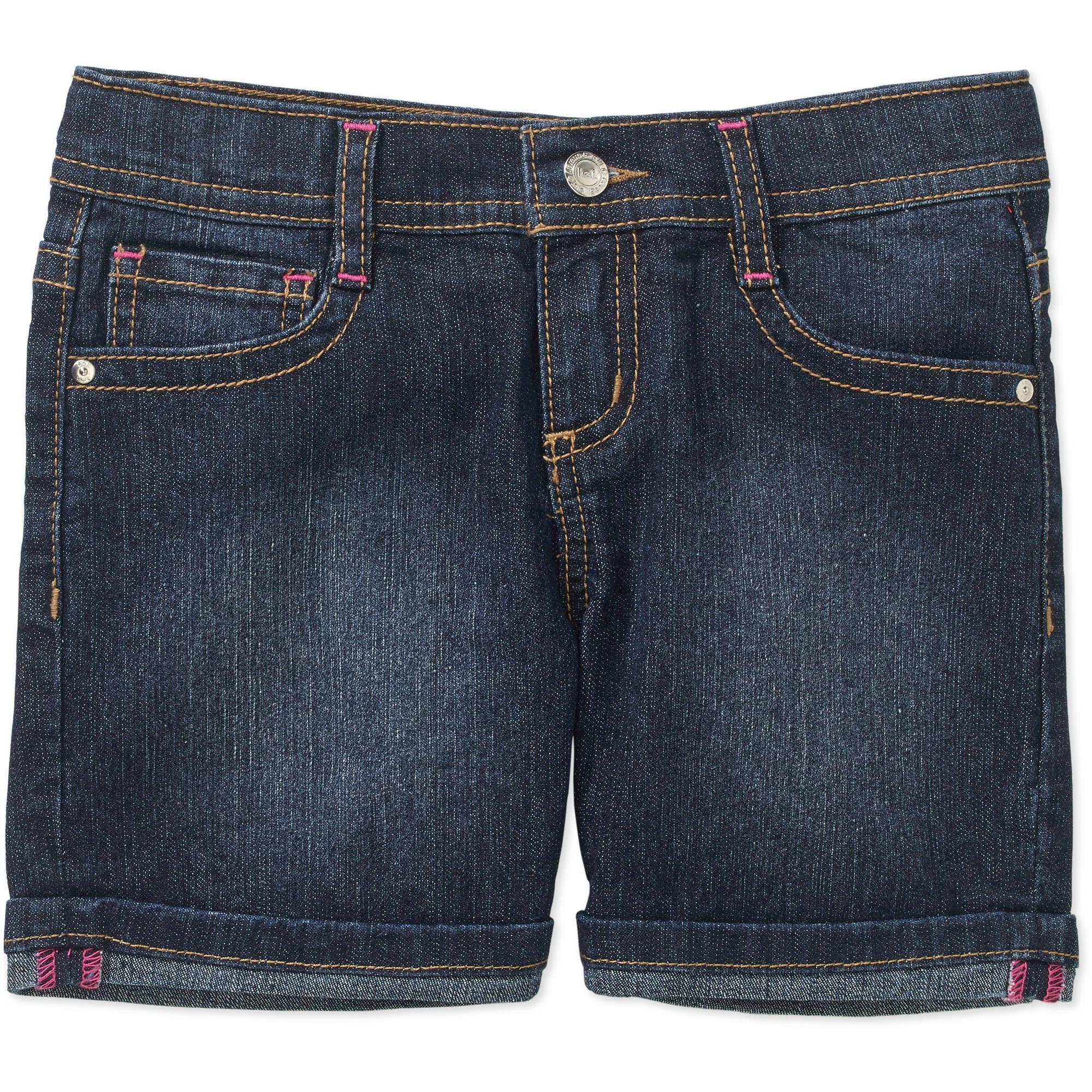 LEI Girls' Denim Midi Shorts