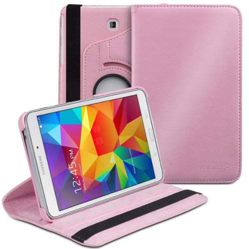 Fosmon GYRE Revolving Leather Case Cover for Samsung Galaxy Tab 4 8.0 - Light Pink
