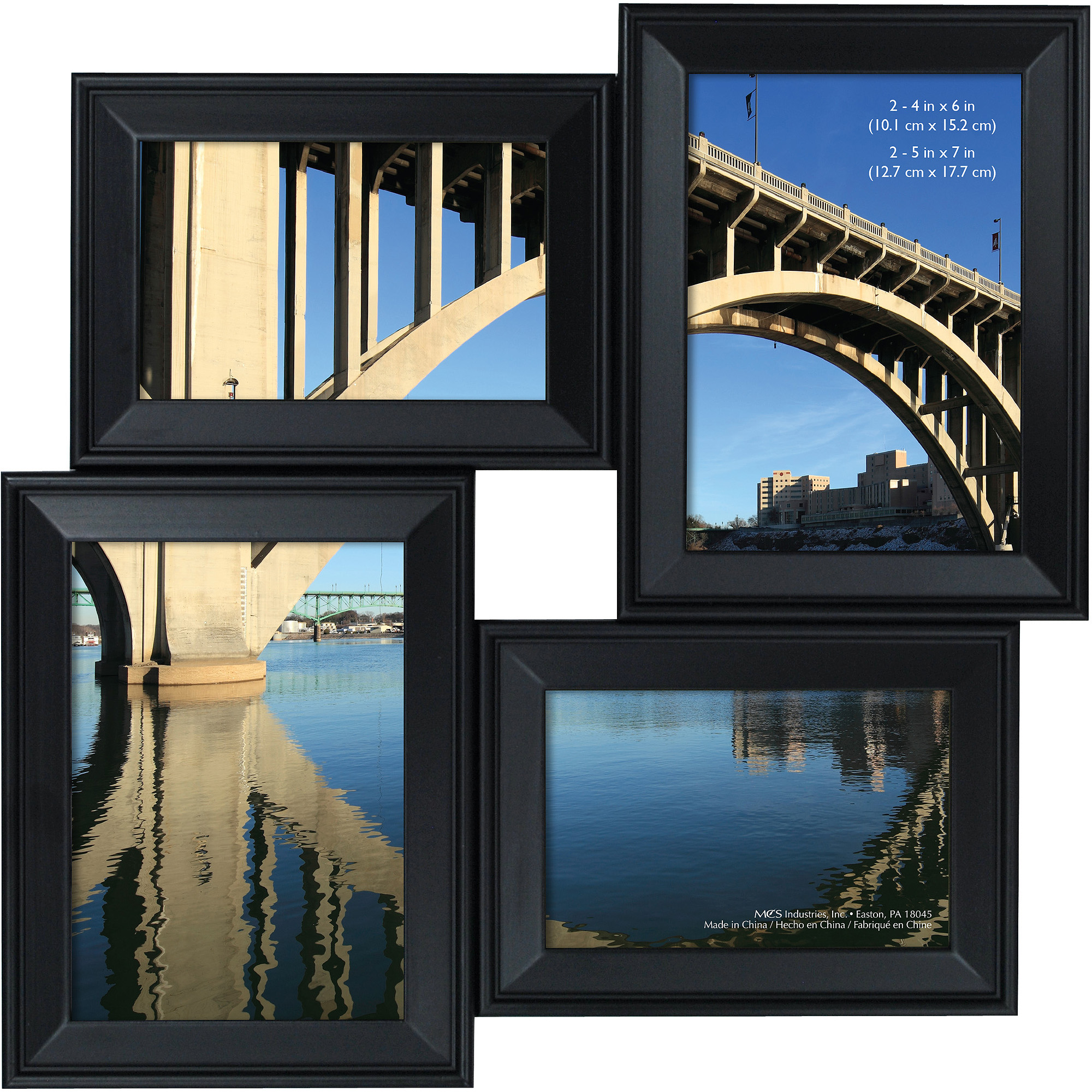 Canopy Black 4 Opening Collage Frame 2-4 - Walmart.com