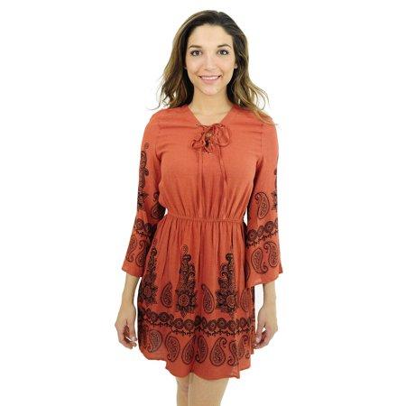 3d6b6a33439 Just Love - Just Love Rayon Short Dress   Summer Dresses for Women (Rust    Black