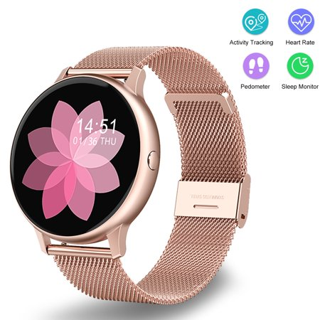 TSV Smart Watch for Women, IP67 Waterproof Smartwatch Fitness Tracker with Heart Rate Blood Pressure Sleep Monitor, Sport Activity Tracker Stopwatch Calories Counter Pedometer, Gift for Lady Girls