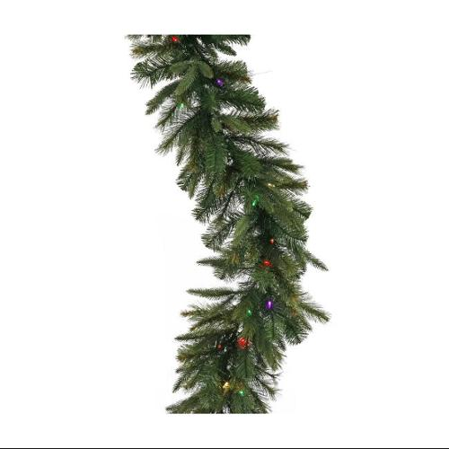 "9' x 18"" Pre-Lit Mixed Pine Cashmere Christmas Garland - Multi LED Lights"