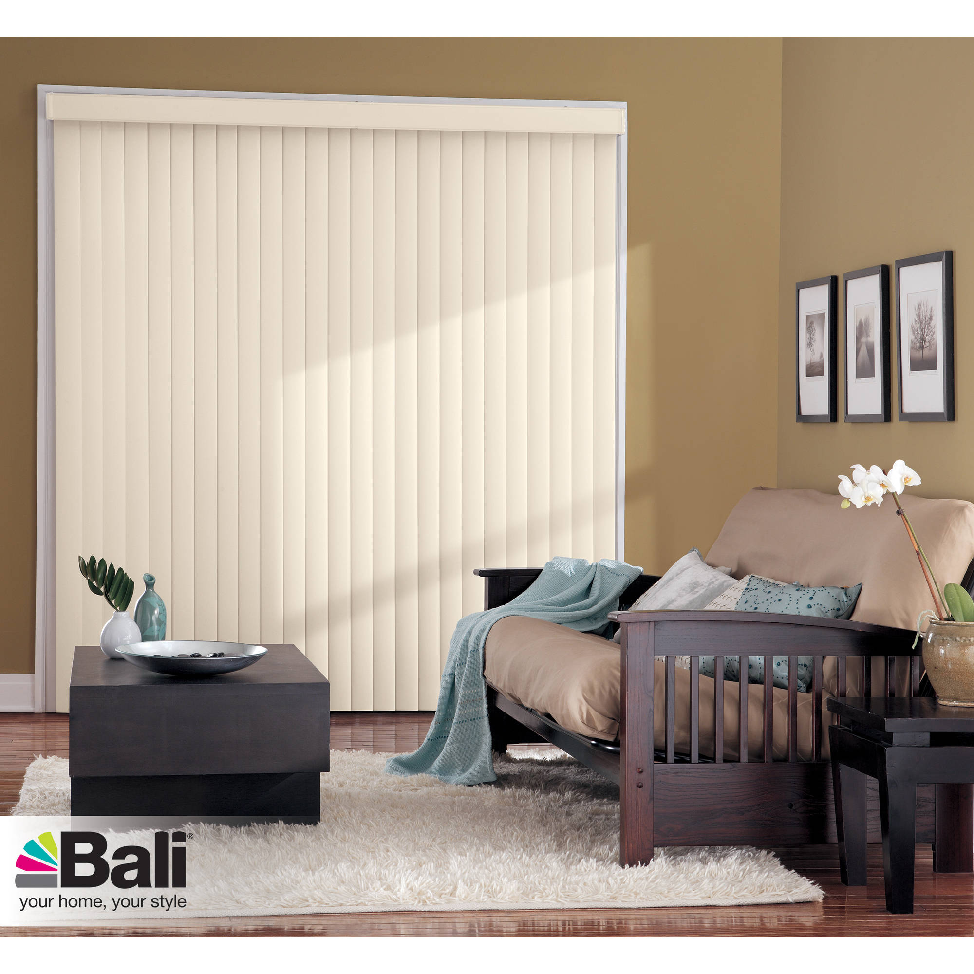 Bali Essentials Crown Vertical Blind, Available in Multiple Colors and Sizes