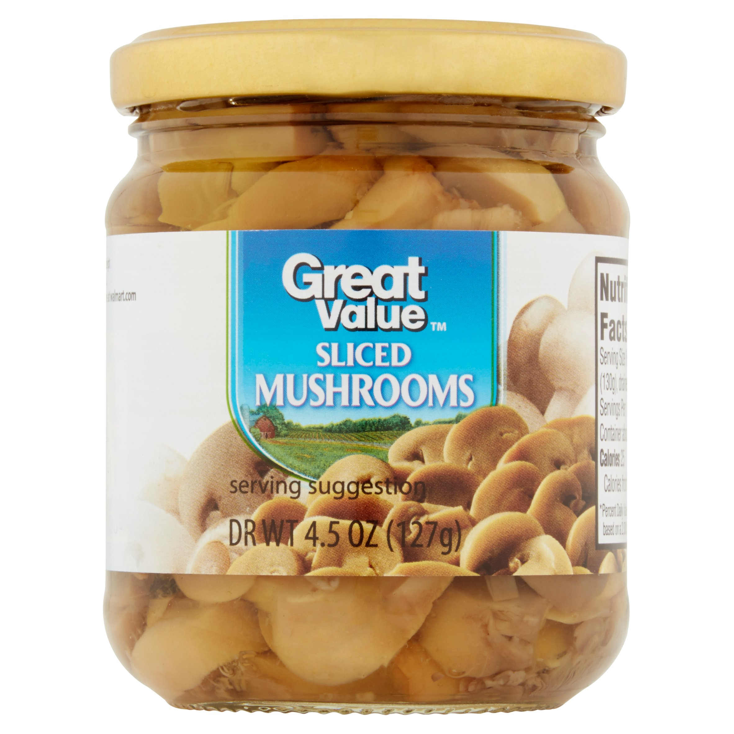 Great Value Sliced Mushrooms, 4.5 oz by Wal-Mart Stores, Inc.