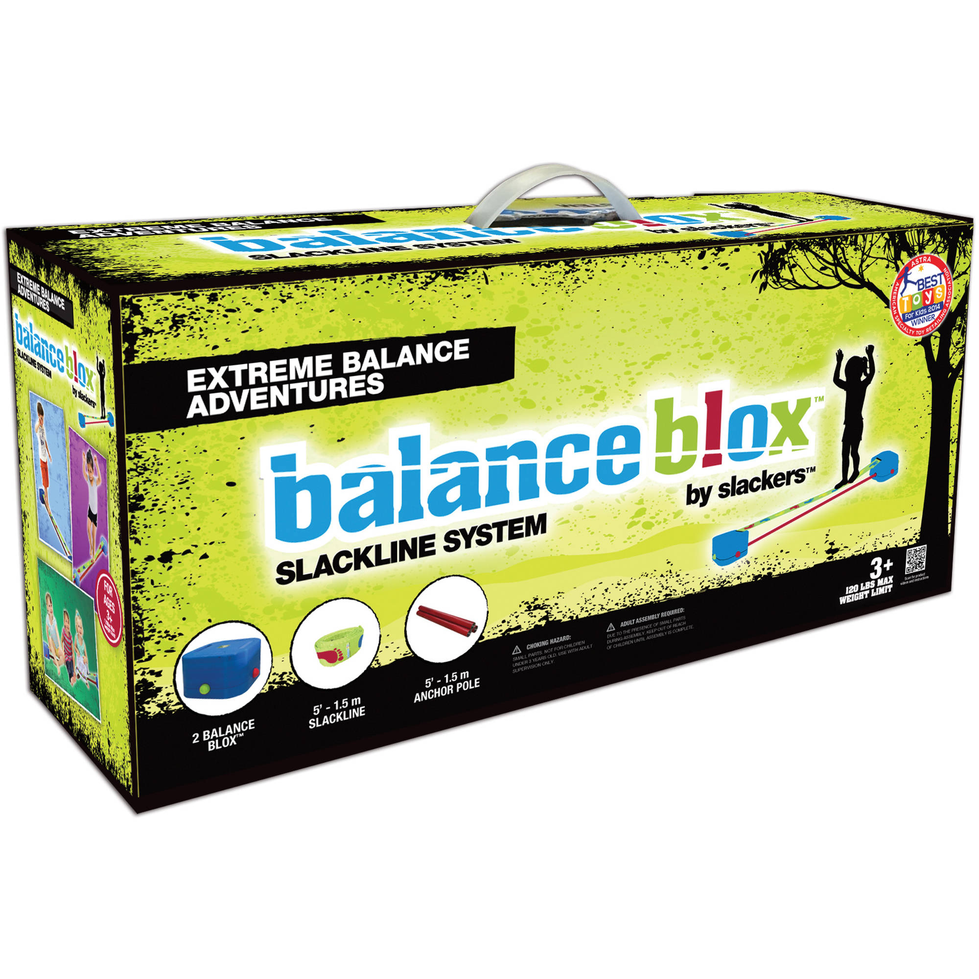 Slackers Playzone-Fit Balance Blox Slackline Kit
